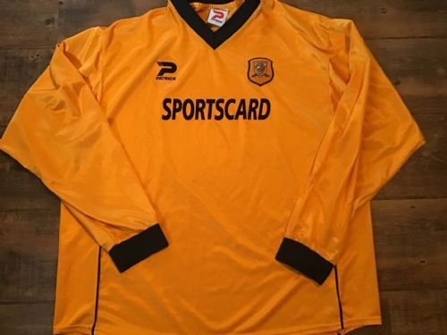 2001 2002 Hull City Home L/s Football Shirt 2XL XXL